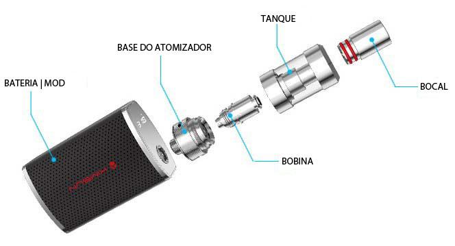 Peças do cigarro eletrônico de tensão variável