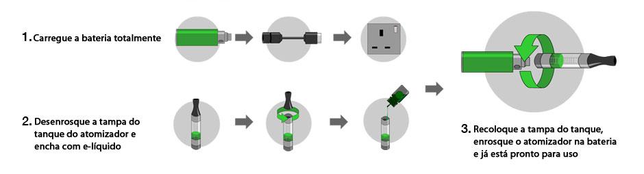 como usar cigarro eletrônico