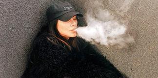 Cleo Pires fumando cigarro eletrônico